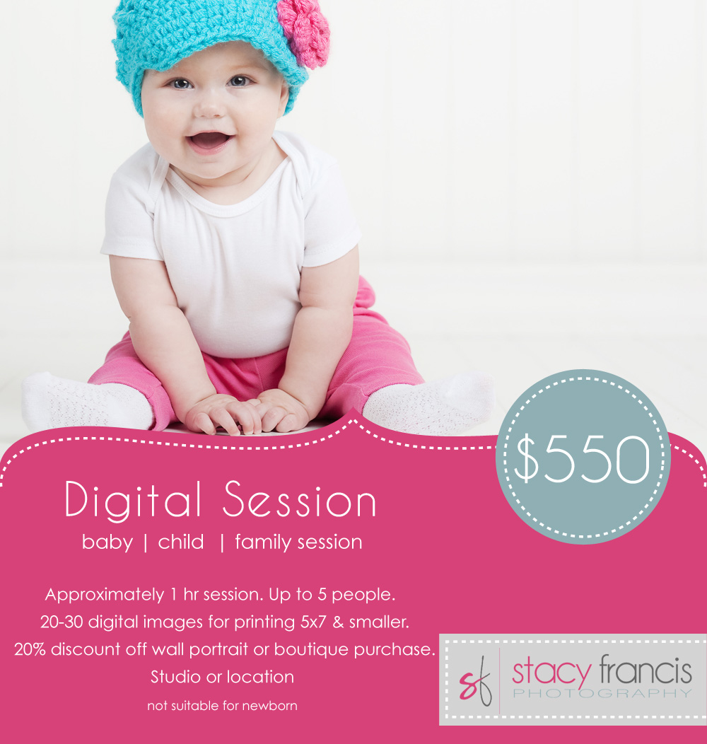 Stacy Francis Photography digital session option, WI portrait photography